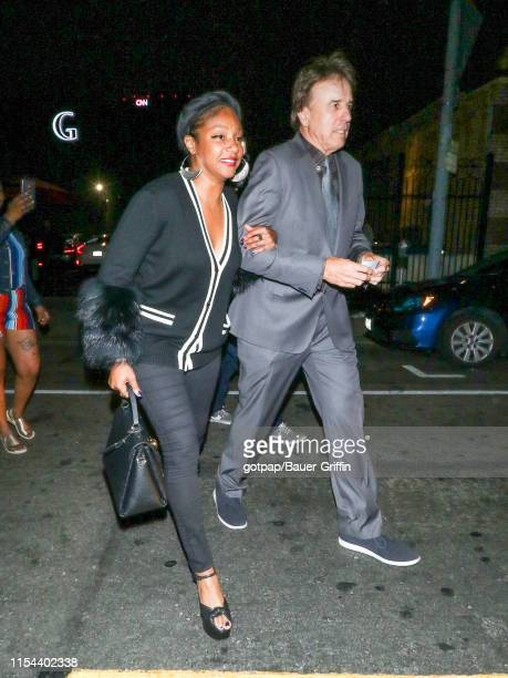 Tiffany Haddish and Kevin Nealon are seen on July 06 2019 in Los Angeles California