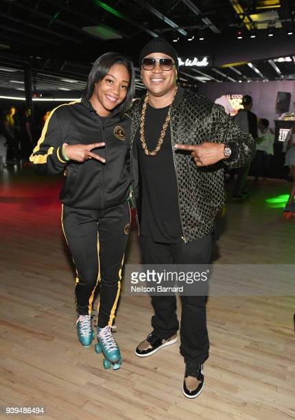 Tiffany Haddish and LL COOL J attend LL COOL J Celebrates the Launch of His Exclusive SiriusXM Channel 'Rock The Bells Radio' at World on Wheels in...