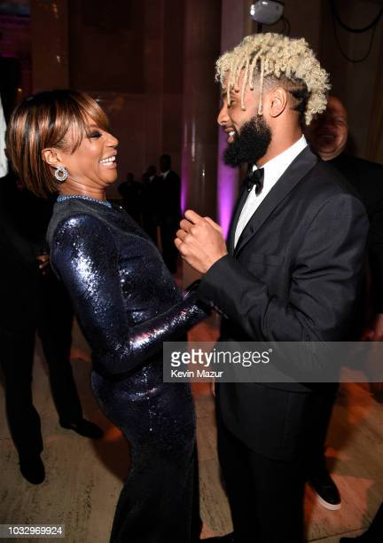Tiffany Haddish and Odell Beckham Jr attend Rihanna's 4th Annual Diamond Ball benefitting The Clara Lionel Foundation at Cipriani Wall Street on...