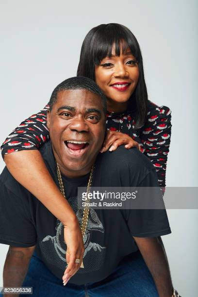 Tiffany Haddish and Tracy Morgan of Turner Networks 'TBS/The Last OG' pose for a portrait during the 2017 Summer Television Critics Association Press...