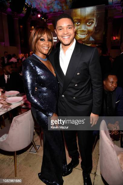 Tiffany Haddish and Trevor Noah attend Rihanna's 4th Annual Diamond Ball benefitting The Clara Lionel Foundation at Cipriani Wall Street on September...