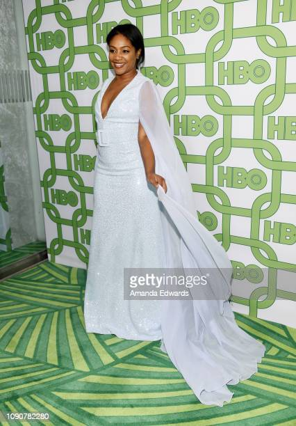 Tiffany Haddish arrives at HBO's Official Golden Globe Awards After Party at Circa 55 Restaurant on January 06 2019 in Los Angeles California