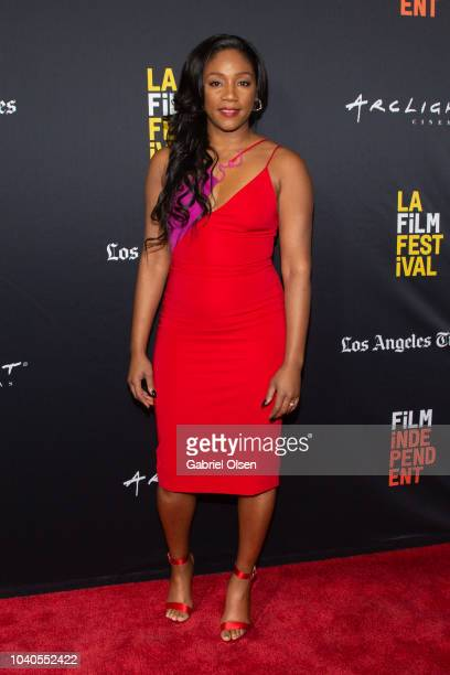 Tiffany Haddish arrives at the 2018 LA Film Festival Gala Screening of 'The Oath' at ArcLight Hollywood on September 25 2018 in Hollywood California