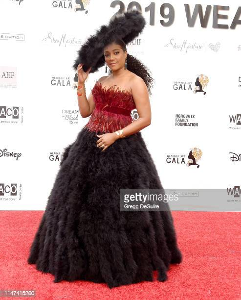 Tiffany Haddish arrives at the WACO Theater Center's 3rd Annual Wearable Art Gala at The Barker Hangar at Santa Monica Airport on June 1 2019 in...