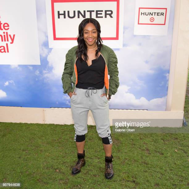 Tiffany Haddish arrives for the Hunter for Target Ultimate Family Festival at Rose Bowl on March 25 2018 in Pasadena California