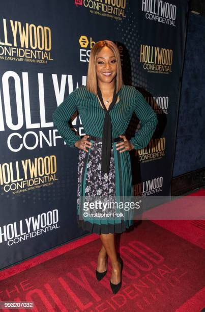 Tiffany Haddish arrives to the Essence Magazine And Hollywood Confidential Present An Evening With Tiffany Haddish at Saban Theatre on July 6 2018 in...
