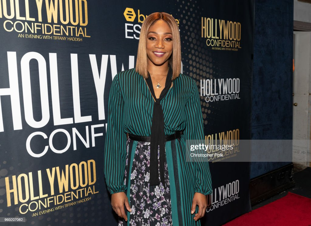 Essence Magazine And Hollywood Confidential Present An Evening With Tiffany Haddish - Arrivals : News Photo