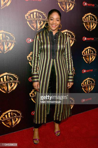 """Tiffany Haddish attends CinemaCon 2019 Warner Bros Pictures Invites You to """"The Big Picture"""" an Exclusive Presentation of its Upcoming Slate at The..."""