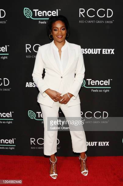 Tiffany Haddish attends Red Carpet Green Dress at the Private Residence of Jonas Tahlin CEO of Absolut Elyx on February 06 2020 in Los Angeles...