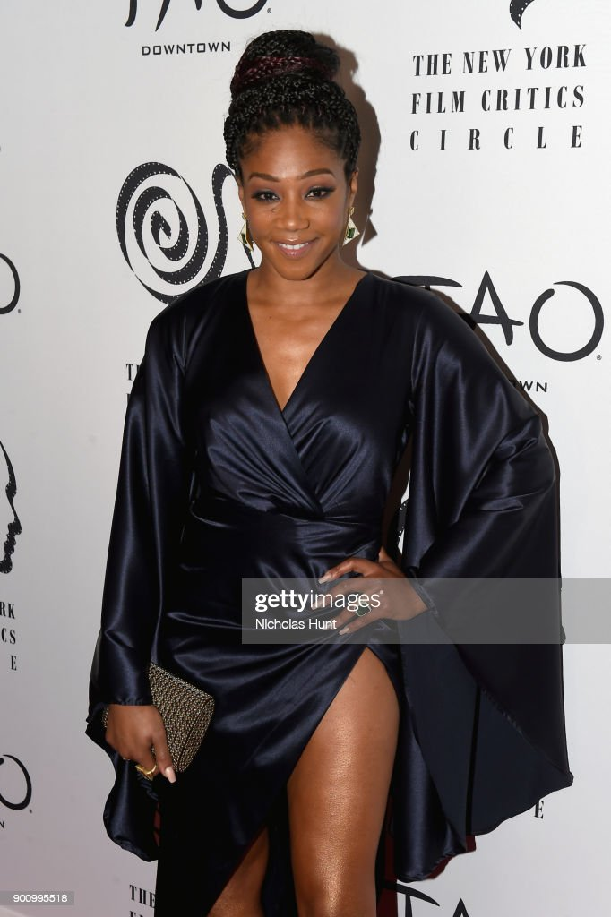 Tiffany Haddish attends the 2017 New York Film Critics Awards at TAO Downtown on January 3, 2018 in New York City.