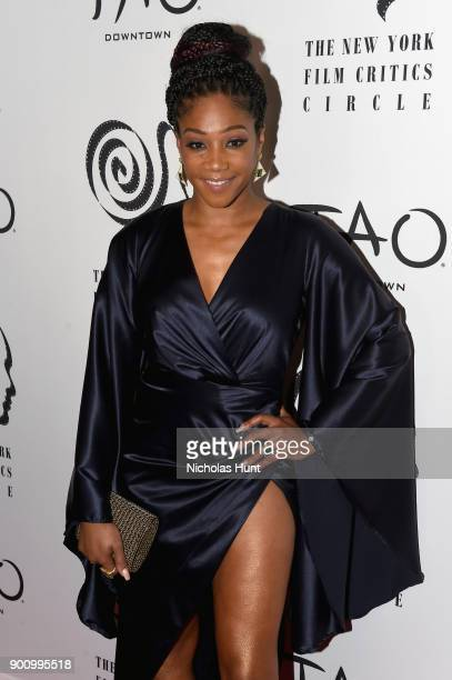 Tiffany Haddish attends the 2017 New York Film Critics Awards at TAO Downtown on January 3 2018 in New York City