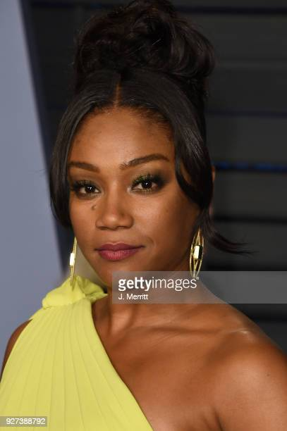 Tiffany Haddish attends the 2018 Vanity Fair Oscar Party hosted by Radhika Jones at the Wallis Annenberg Center for the Performing Arts on March 4...