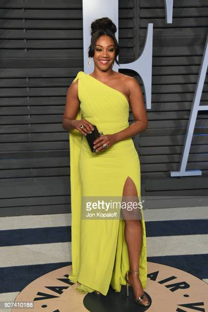Tiffany Haddish attends the 2018 Vanity Fair Oscar Party hosted by Radhika Jones at Wallis Annenberg Center for the Performing Arts on March 4 2018...