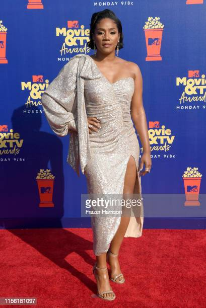 Tiffany Haddish attends the 2019 MTV Movie and TV Awards at Barker Hangar on June 15 2019 in Santa Monica California
