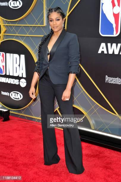 Tiffany Haddish attends the 2019 NBA Awards at Barker Hangar on June 24 2019 in Santa Monica California