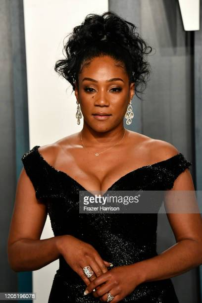 Tiffany Haddish attends the 2020 Vanity Fair Oscar Party hosted by Radhika Jones at Wallis Annenberg Center for the Performing Arts on February 09...