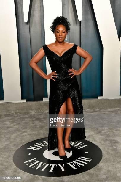 Tiffany Haddish attends the 2020 Vanity Fair Oscar Party hosted by Radhika Jones at Wallis Annenberg Center for the Performing Arts on February 09,...