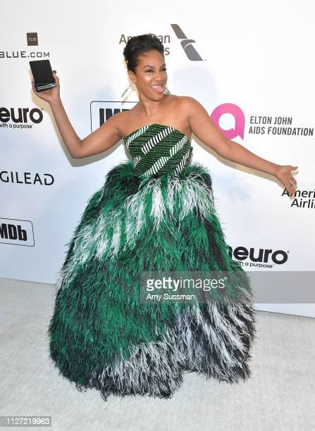 Tiffany Haddish attends the 27th annual Elton John AIDS Foundation Academy Awards Viewing Party celebrating EJAF and the 91st Academy Awards on...