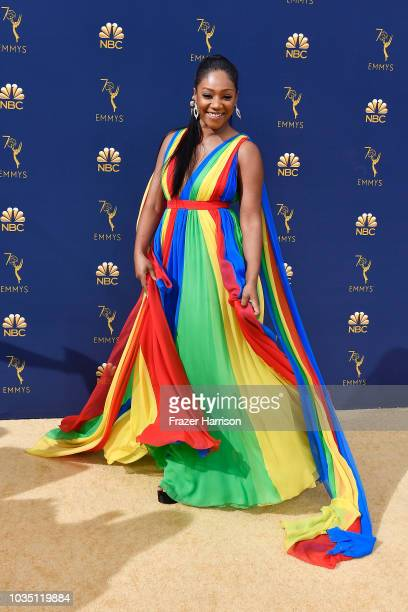 Tiffany Haddish attends the 70th Emmy Awards at Microsoft Theater on September 17 2018 in Los Angeles California