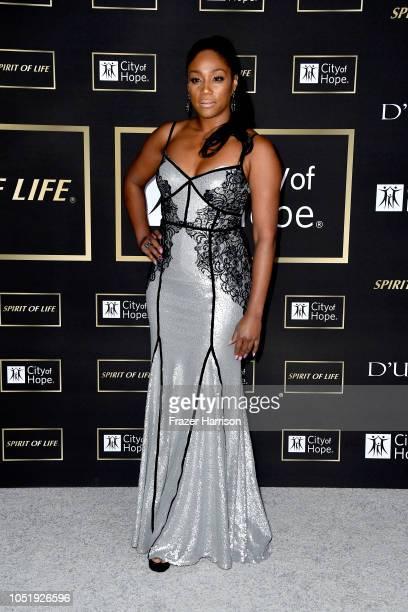 Tiffany Haddish attends the City of Hope Spirit of Life Gala 2018 at Barker Hangar on October 11 2018 in Santa Monica California
