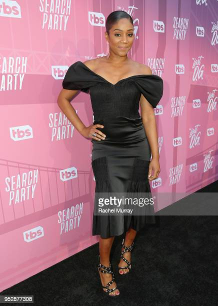 Tiffany Haddish attends the For Your Consideration Red Carpet Event for TBS' Hipsters and OG's at Steven J Ross Theatre on the Warner Bros Lot on...