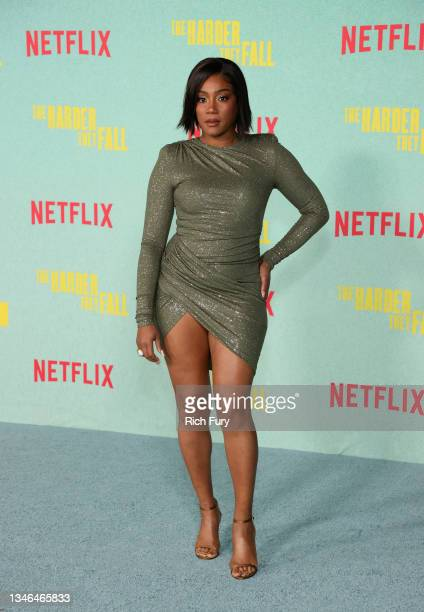 """Tiffany Haddish attends the Los Angeles premiere of """"The Harder They Fall"""" at Shrine Auditorium and Expo Hall on October 13, 2021 in Los Angeles,..."""