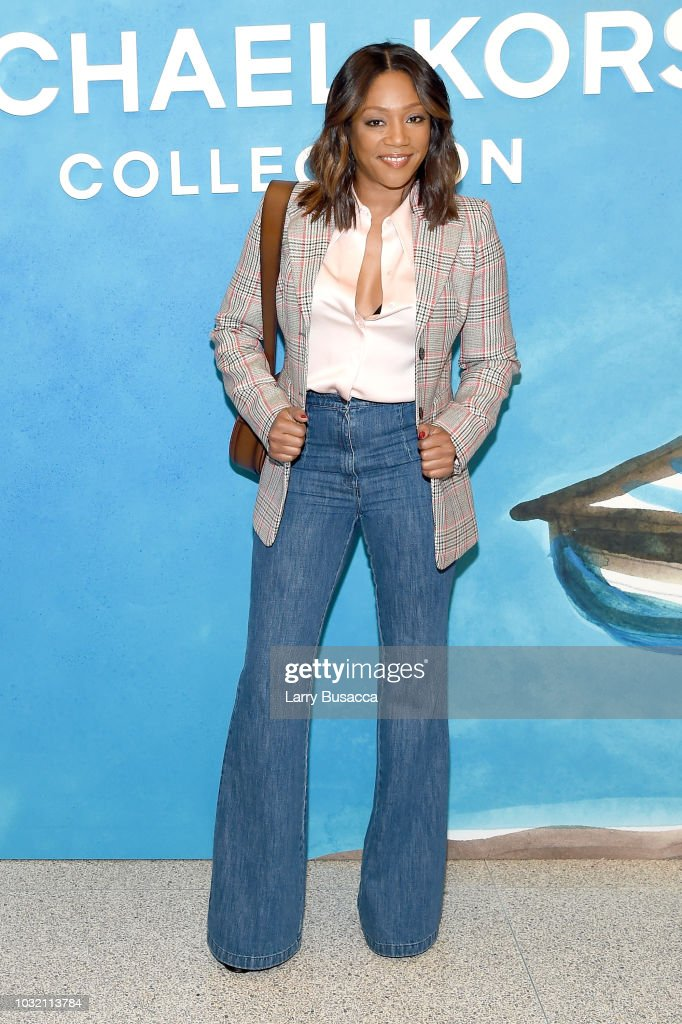 Tiffany Haddish attends the Michael Kors Collection Spring 2019 Runway Show at Pier 17 on September 12, 2018 in New York City.