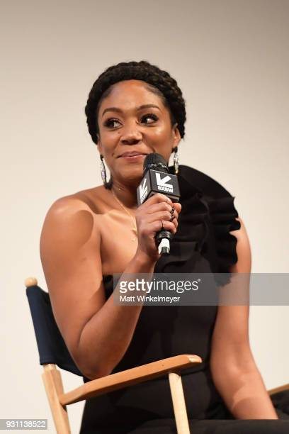 Tiffany Haddish attends the The Last OG Premiere 2018 SXSW Conference and Festivals at Paramount Theatre on March 12 2018 in Austin Texas