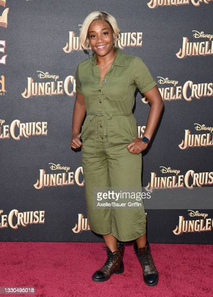 """Tiffany Haddish attends the World Premiere of Disney's """"Jungle Cruise"""" at Disneyland on July 24, 2021 in Anaheim, California."""