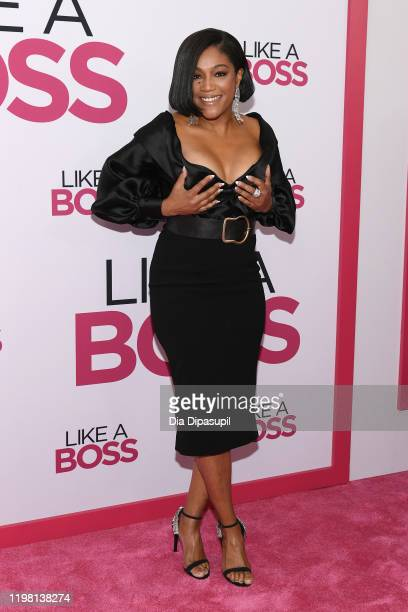 "Tiffany Haddish attends the world premiere of ""Like A Boss"" at SVA Theater on January 07, 2020 in New York City."