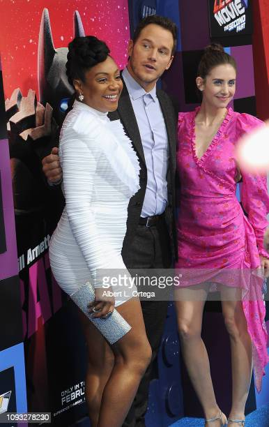 Tiffany Haddish Chris Pratt and Alison Brie arrive for the premiere of Warner Bros Pictures' 'The Lego Movie 2 The Second Part' held at Regency...