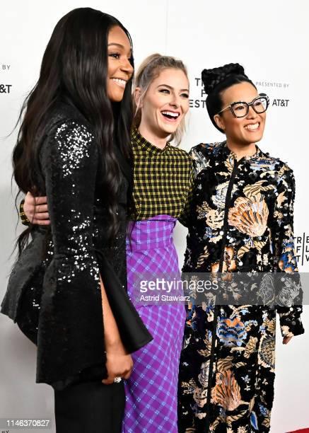 Tiffany Haddish Creator and Showrunner Lisa Hanawalt and Ali Wong attend Netflix's Tuca Bertie Tribeca Film Festival Premiere at Spring Studios on...