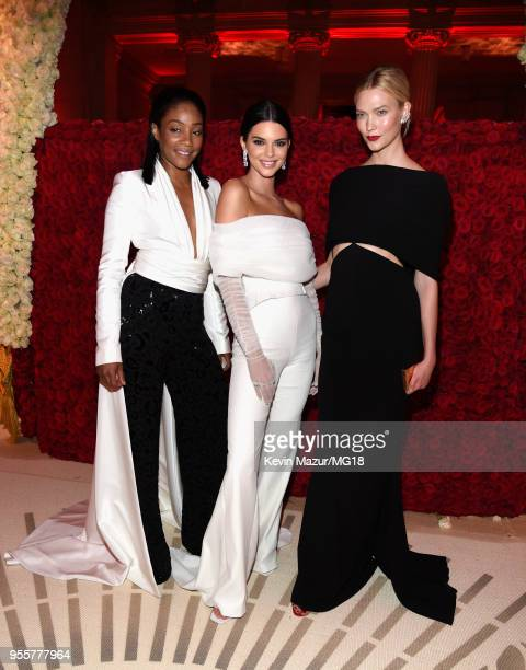 Tiffany Haddish Kendall Jenner and Karlie Kloss attend the Heavenly Bodies Fashion The Catholic Imagination Costume Institute Gala at The...