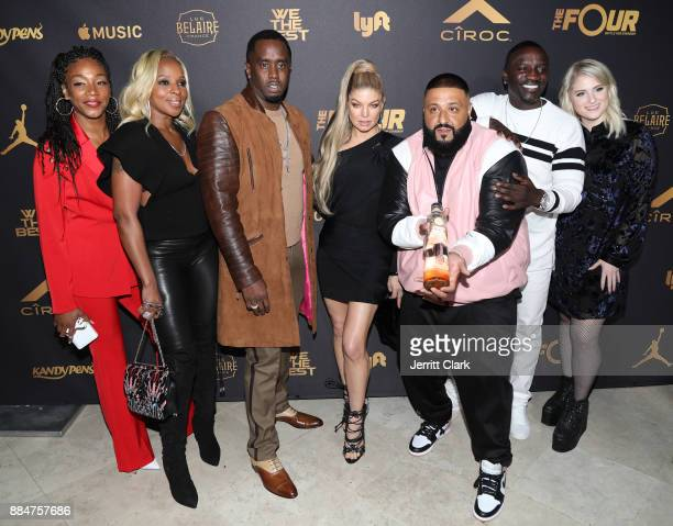 Tiffany Haddish Mary J Blige Sean 'Diddy' Combs Fergie DJ Khaled Akon and Meghan Trainor attend The Four cast Sean Diddy Combs Fergie and Meghan...