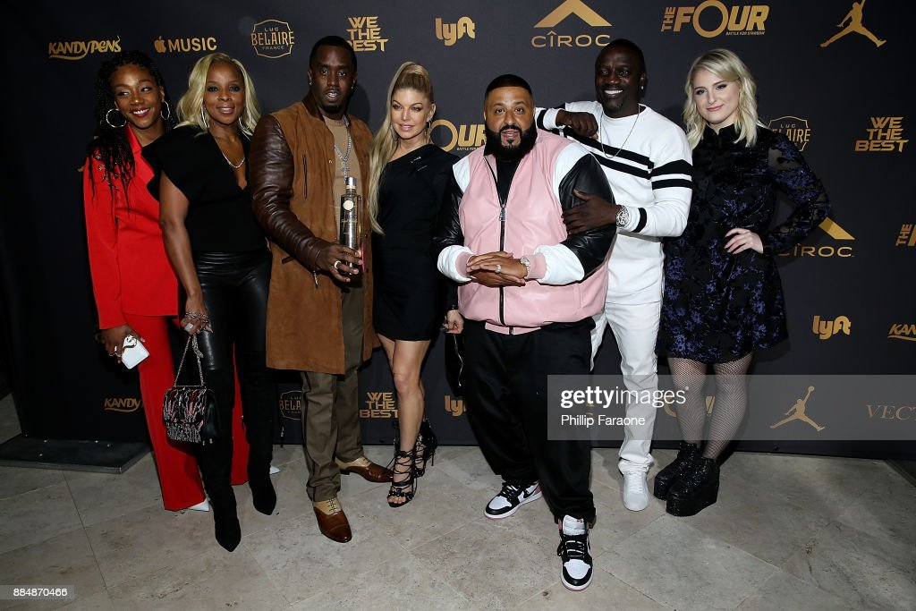 The Four Cast Sean 'Diddy' Combs, Fergie and Meghan Trainor Host DJ Khaled's Birthday Presented by CIROC and Fox in Beverly Hills : News Photo