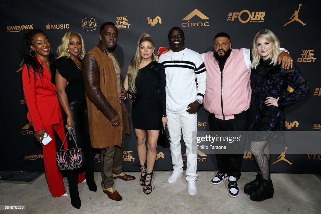 Tiffany Haddish, Mary J. Blige, Sean 'Diddy' Combs, Fergie, DJ Khaled, Akon, and Meghan Trainor attend Ciroc Celebrates DJ Khaled's Birthday in Beverly Hills on December 2, 2017 in Beverly Hills, California.