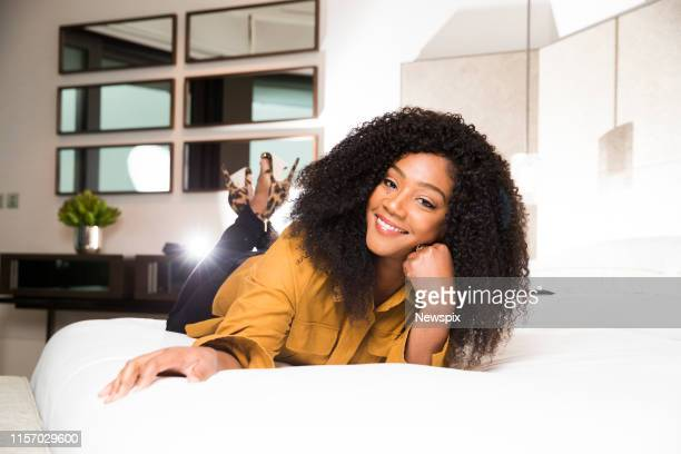 SYDNEY NSW Tiffany Haddish poses during a photo shoot in Sydney New South Wales