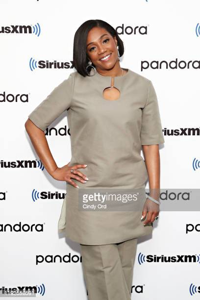 Tiffany Haddish poses for a photo during SiriusXM's Town Hall with the cast of 'Like A Boss' hosted by Hoda Kotb at the SiriusXM Studio on January 8...
