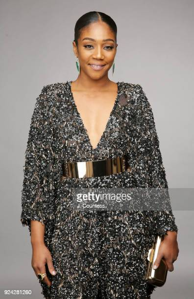 Tiffany Haddish poses for a portrait during the 2018 American Black Film Festival Honors Awards at The Beverly Hilton Hotel on February 25 2018 in...