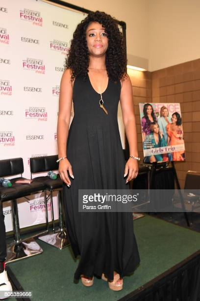 Tiffany Haddish poses in the press room at the 2017 ESSENCE Festival presented by CocaCola at Ernest N Morial Convention Center on July 1 2017 in New...