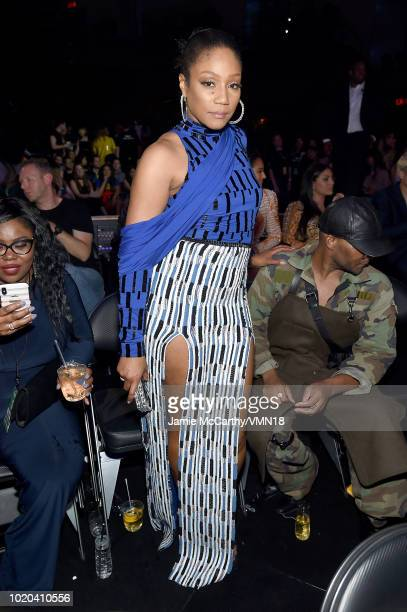 Tiffany Haddish poses onstage during the 2018 MTV Video Music Awards at Radio City Music Hall on August 20 2018 in New York City