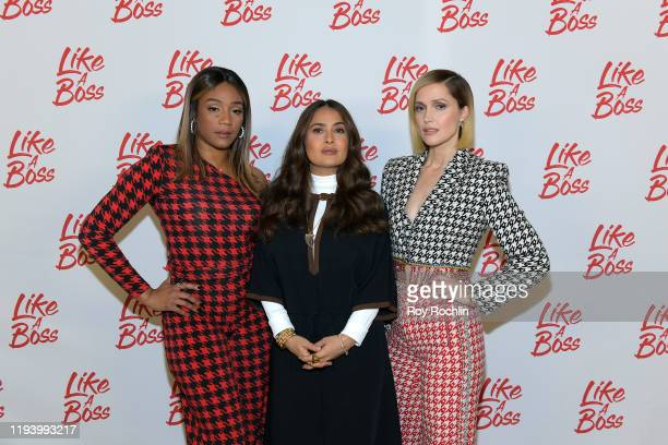 Tiffany Haddish Salma Hayek Rose Byrne attend the Paramount Pictures' Like A Boss Photocall at the Whitby Hotel on December 14 2019 in New York New...