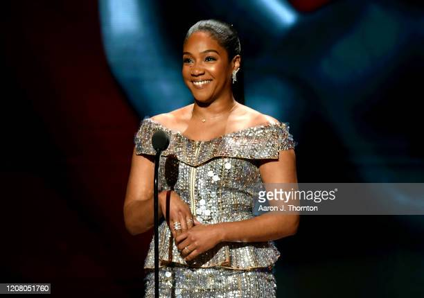 Tiffany Haddish speaks onstage during the 51st NAACP Image Awards Presented by BET at Pasadena Civic Auditorium on February 22 2020 in Pasadena...