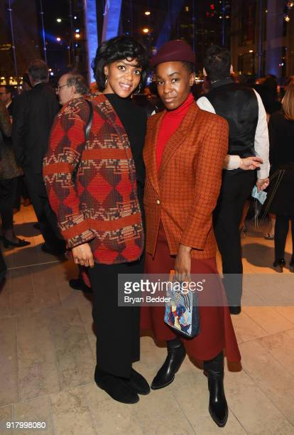 Tiffany Harrison and Erykah Acheve attends the Winter Gala at Lincoln Center at Alice Tully Hall on February 13 2018 in New York City