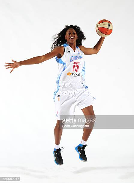 Tiffany Hayes of the Atlanta Dream poses for a photograph during WNBA Media Day at Philips Arena on May 9 2014 in Atlanta Georgia NOTE TO USER User...