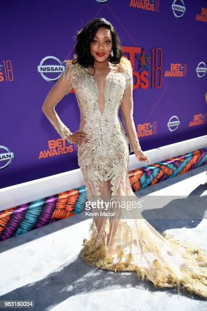 Tiffany Hines attends the 2018 BET Awards at Microsoft Theater on June 24 2018 in Los Angeles California