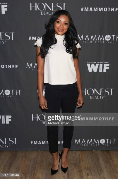 Tiffany Hines attends Women In Film movie premiere at Inaugural Mammoth Film Festival Day 4 on February 11 2018 in Mammoth Lakes California