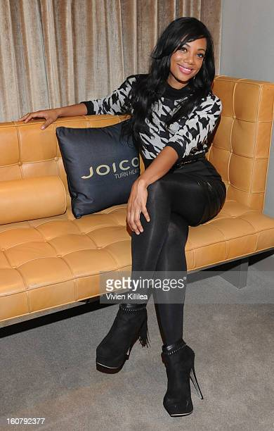 Tiffany Hines poses for photos at SLS Hotel on February 5 2013 in Beverly Hills California