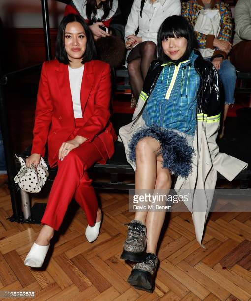 Tiffany Hsu and Susie Bubble attend the International Woolmark Prize 18/19 Final show during London Fashion Week February 2019 at Lindley Hall on...