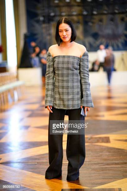 Tiffany Hsu attends the Ulyana Sergeenko Haute Couture Fall Winter 2018/2019 show as part of Paris Fashion Week on July 3 2018 in Paris France